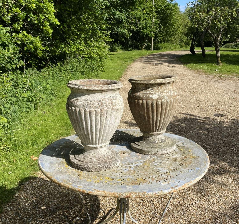 Pair of Vase Urns