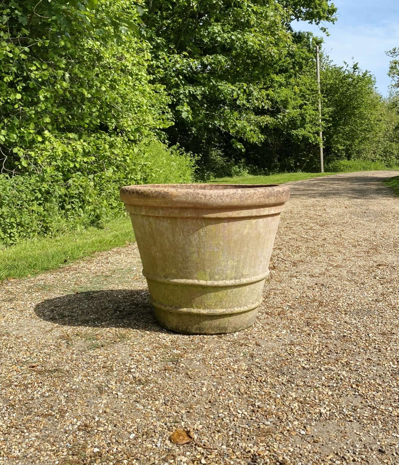 Large Patinated Italian Planter