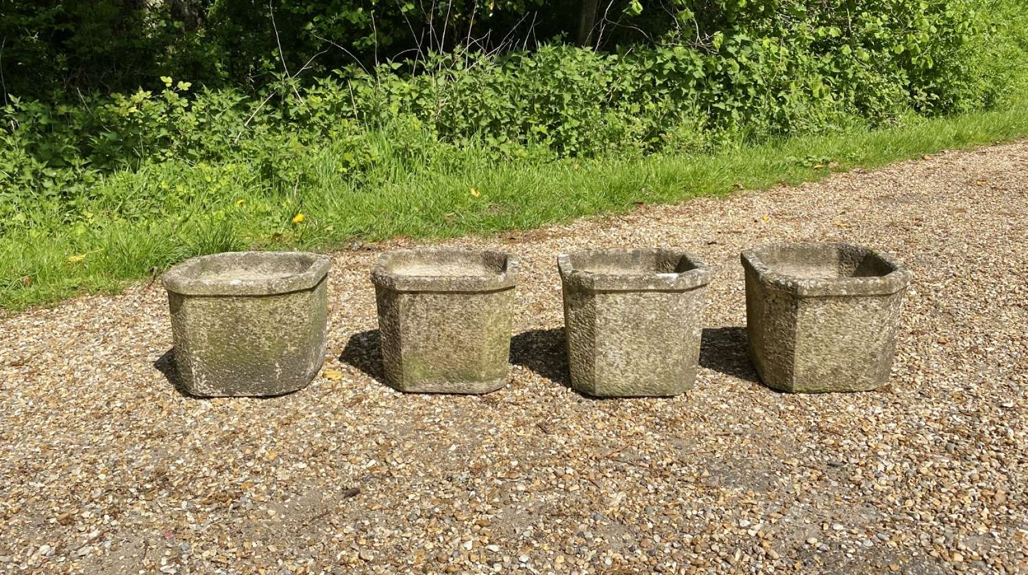Set of Small Square Planters