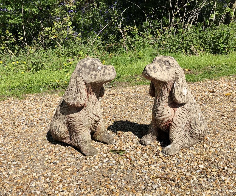 Pair of Stone Spaniels
