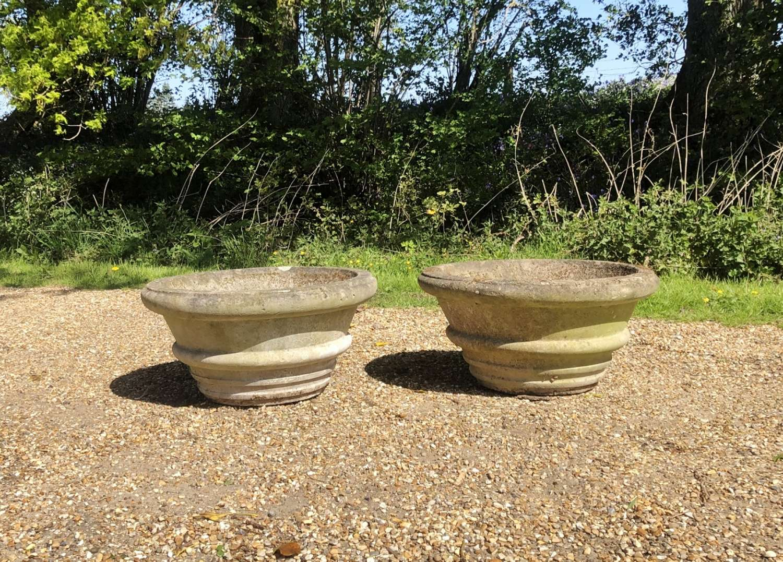 Pair of Simple Stone Planters