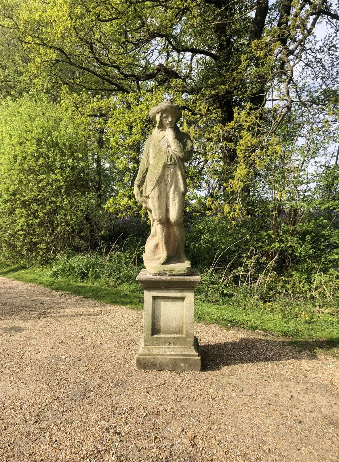 Large French Figure and Pedestal