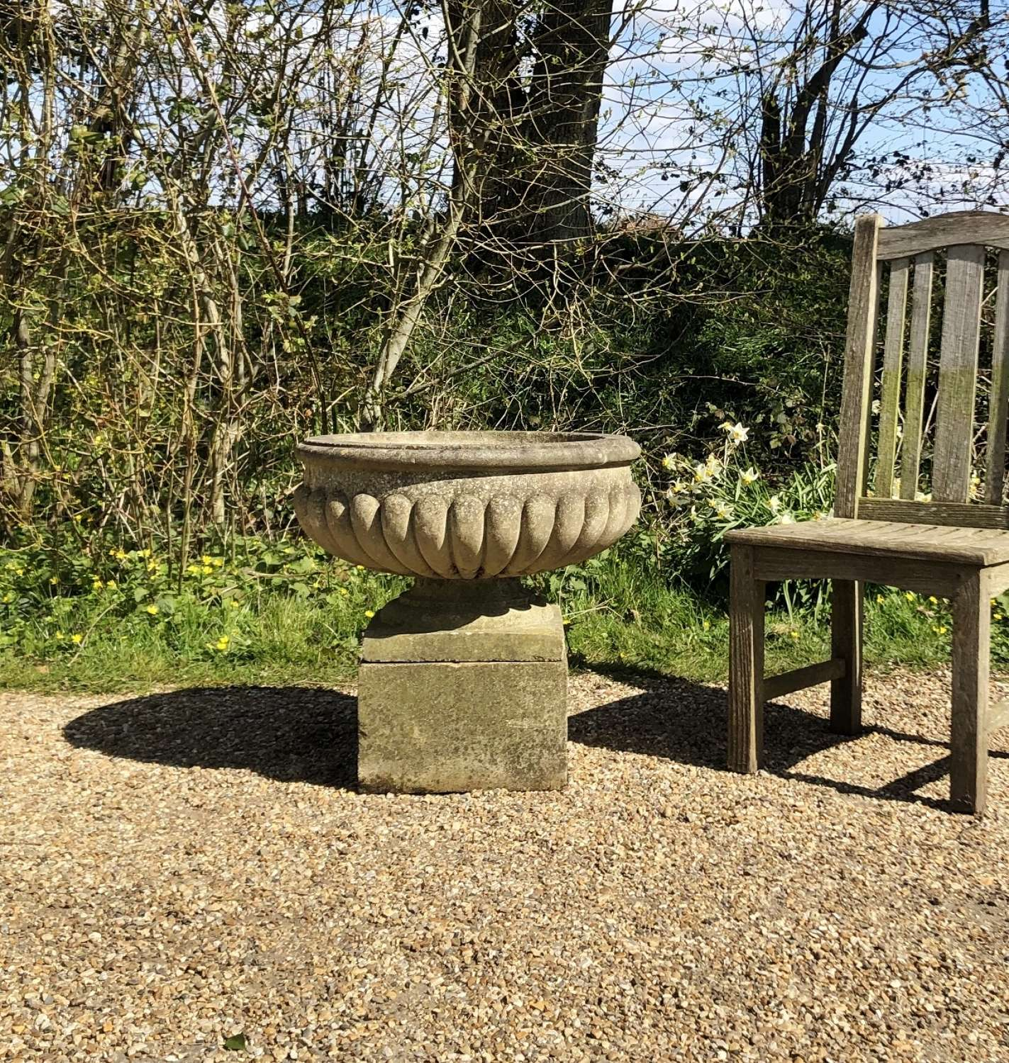 Shallow Urn and Plinth