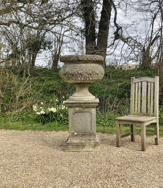 Large Tulip Urn and Pedestal