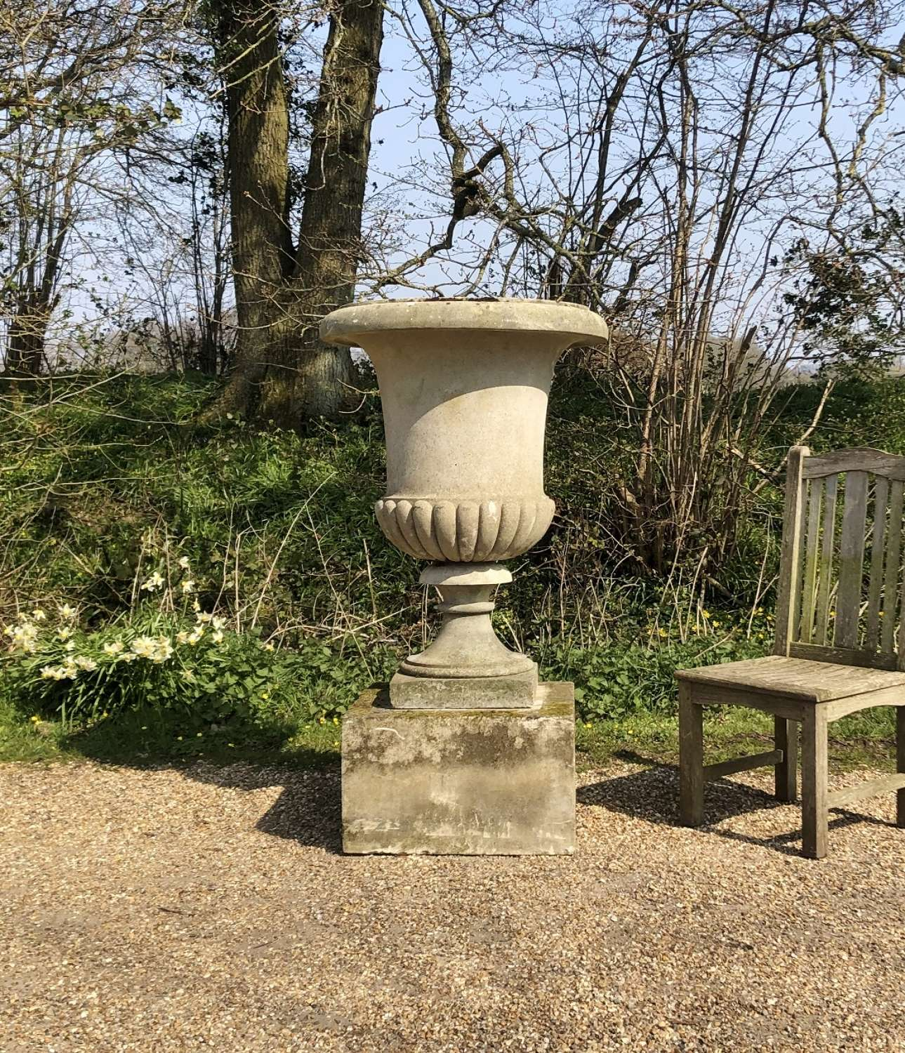 Very Large Campania Urn and Plinth