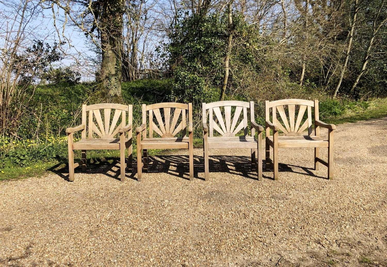 Set of 4 Sunburst Chairs