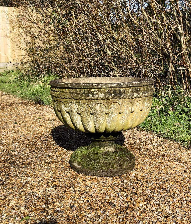 Patinated Bowl Urn