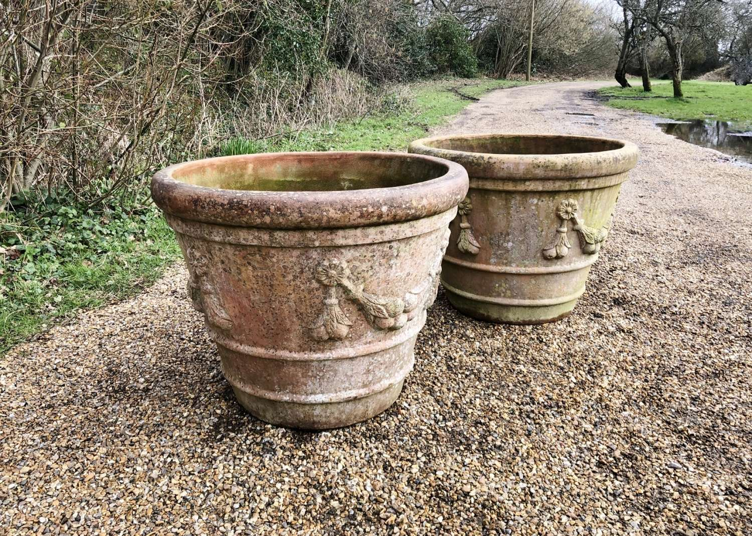 Large Terracotta Garland Planters