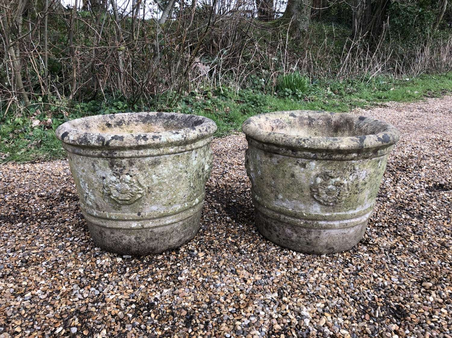 Pair of Tudor Rose Planters