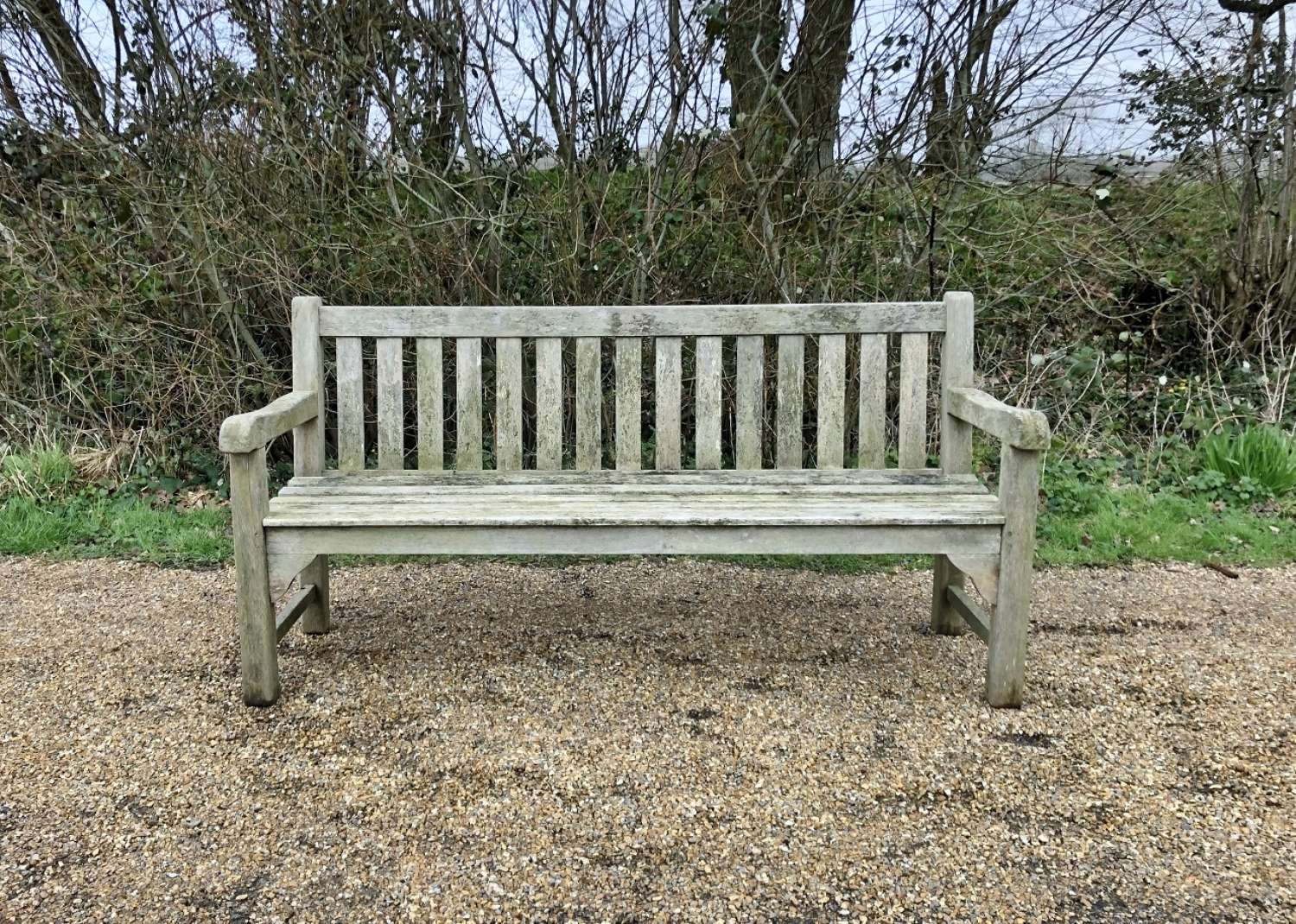 Weathered Traditional Bench