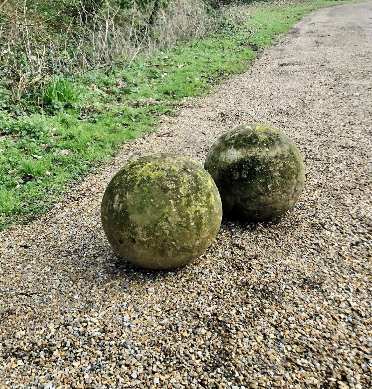 Pair of Mossy Balls