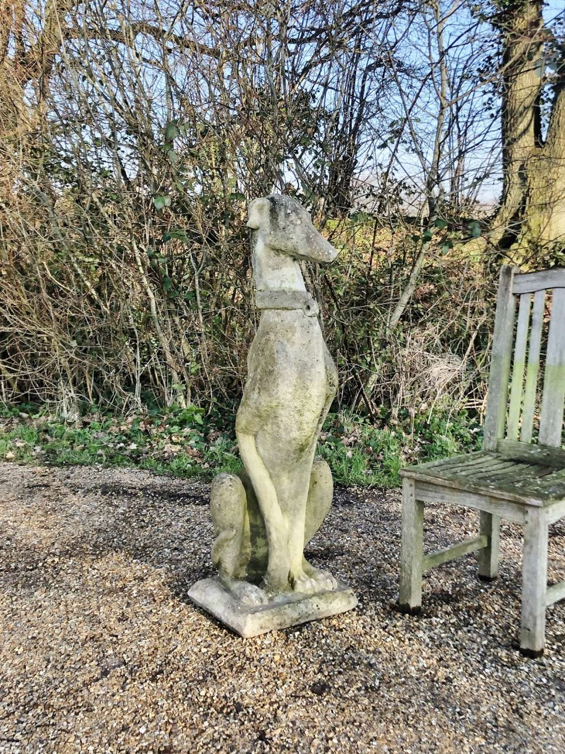 Large Whippet Statue