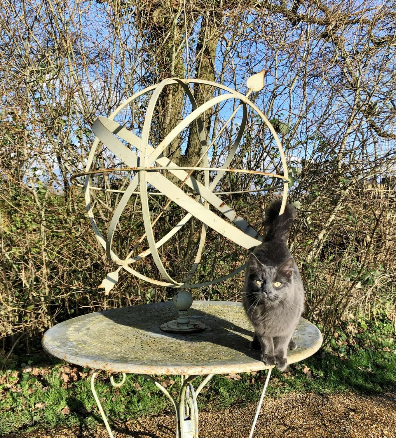 Large Decorative Iron Armillary