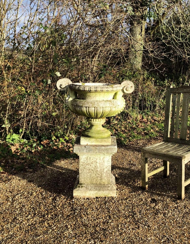 Handled Urn and Pedestal