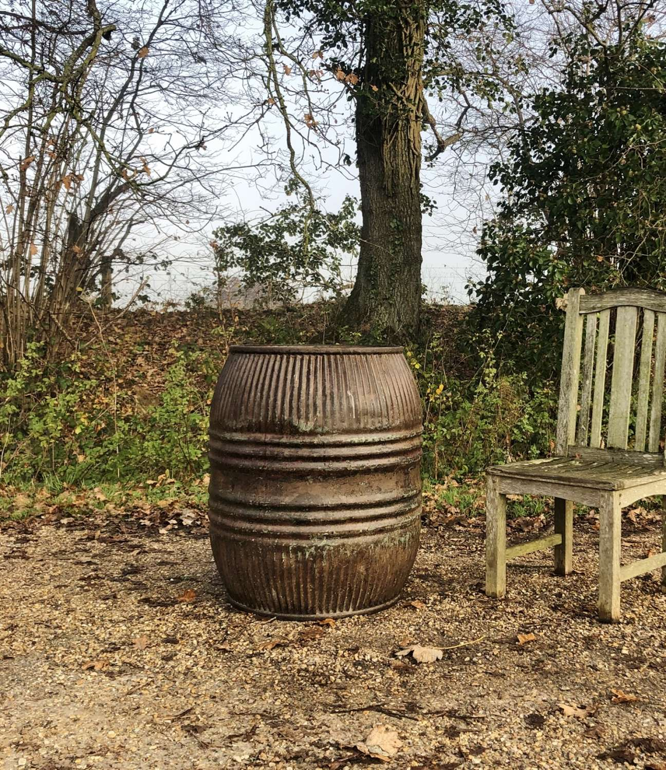 Large Galvanised Planter or Water Butt