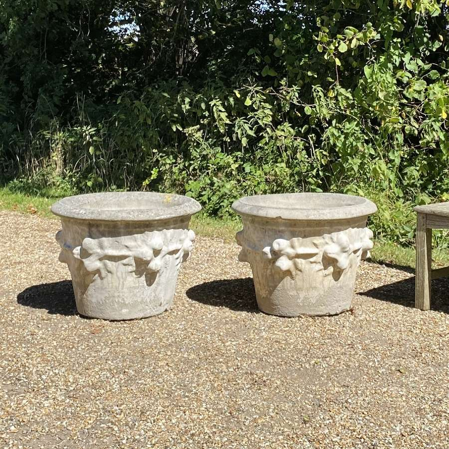 Pair of Large Fruit Planters