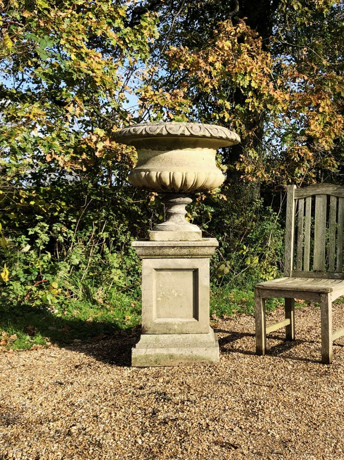 Large Garden Urn and Pedestal