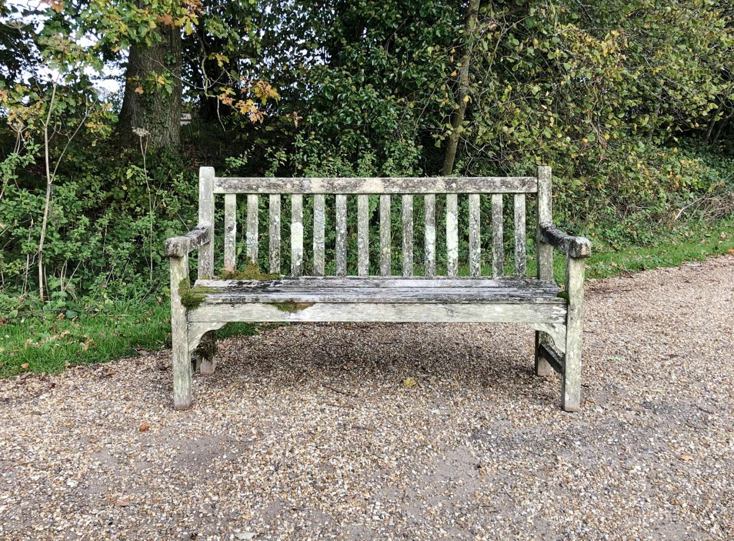 Patinated Garden Bench