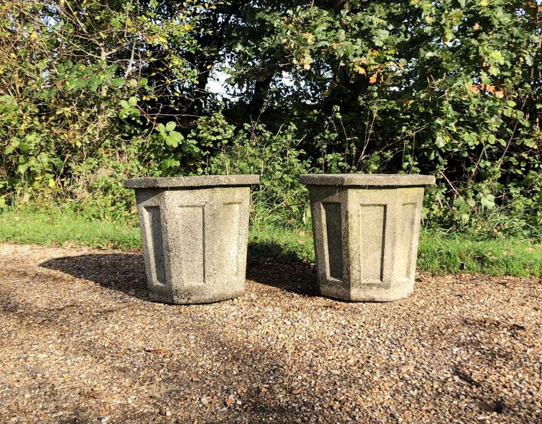 Pair of Octagonal Planters