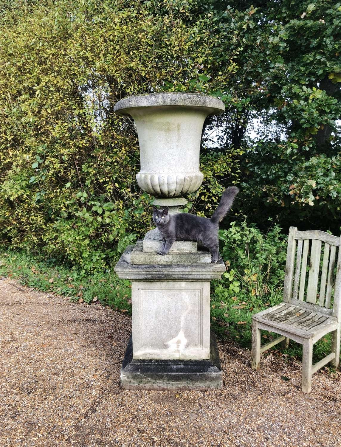 Very Large Campania Urn and Pedestal