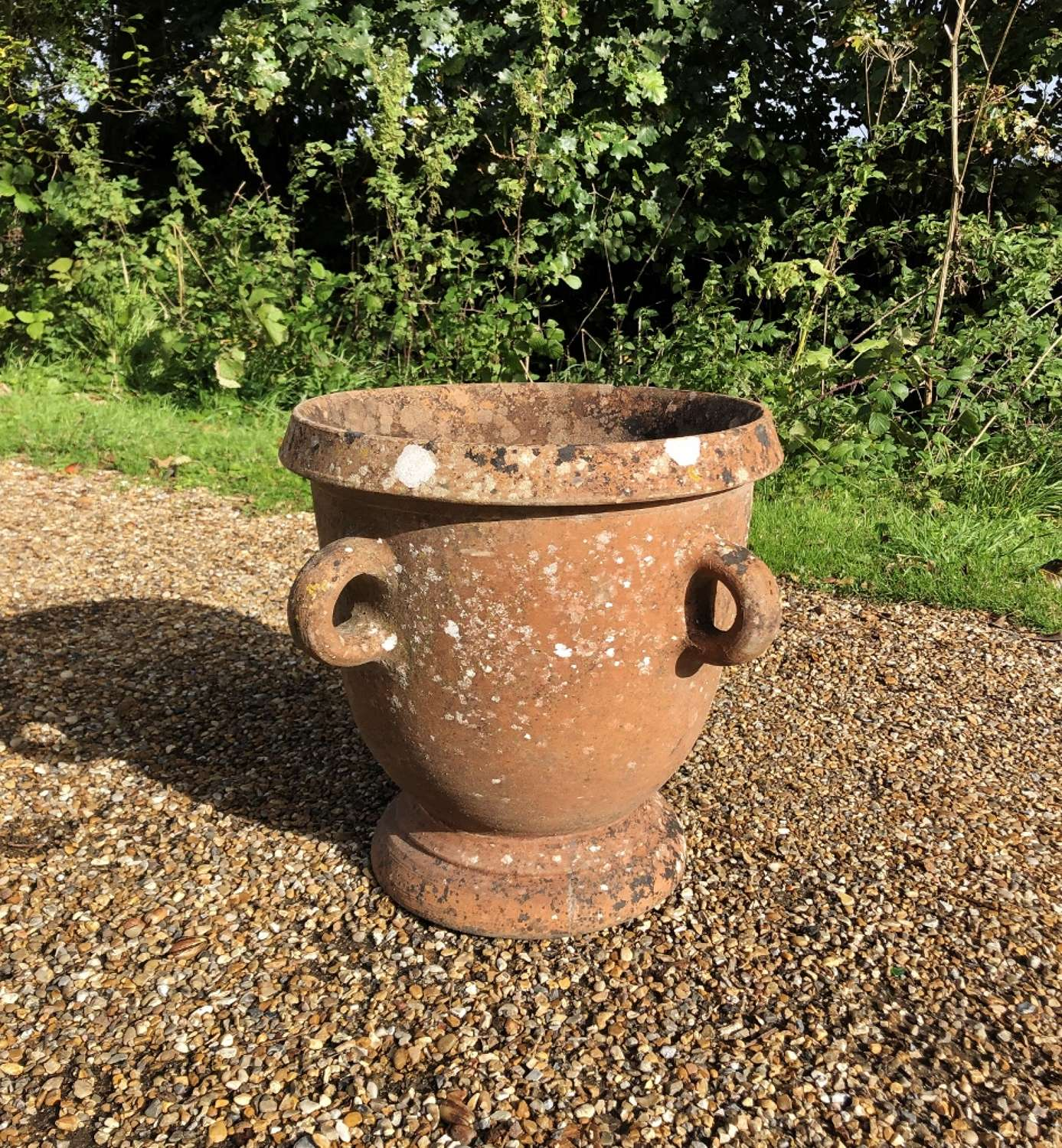 Patinated Handled Planter
