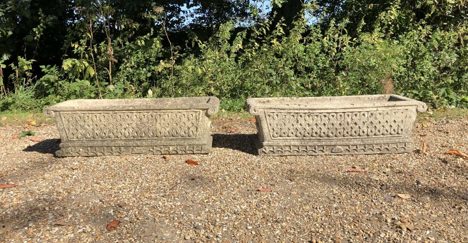Pair of Cotswold Stone Troughs