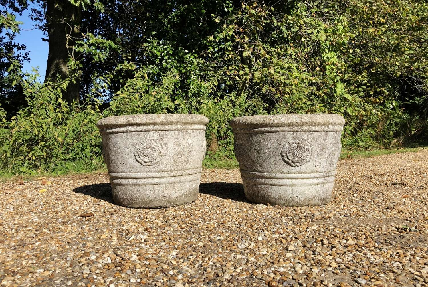 Pair of Small Rose Planters