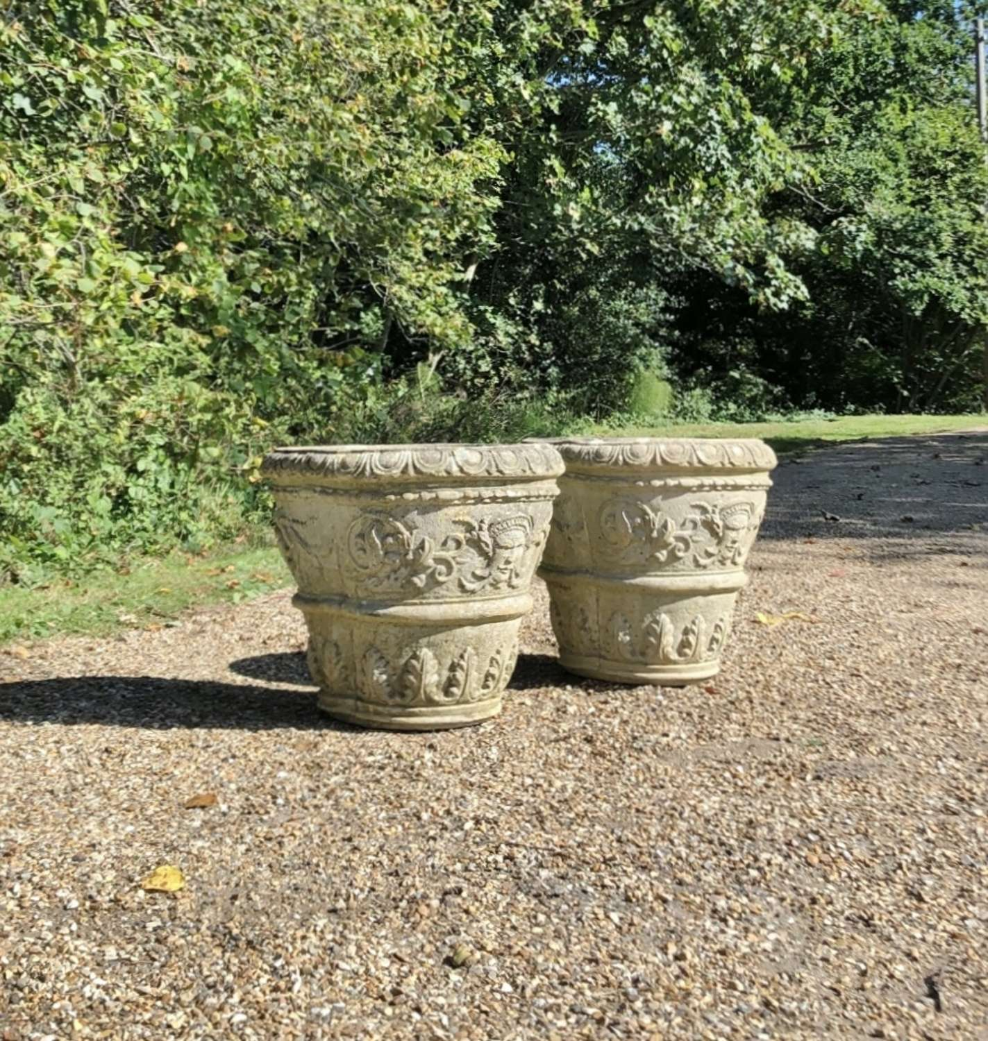 Pair of Weathered Planters