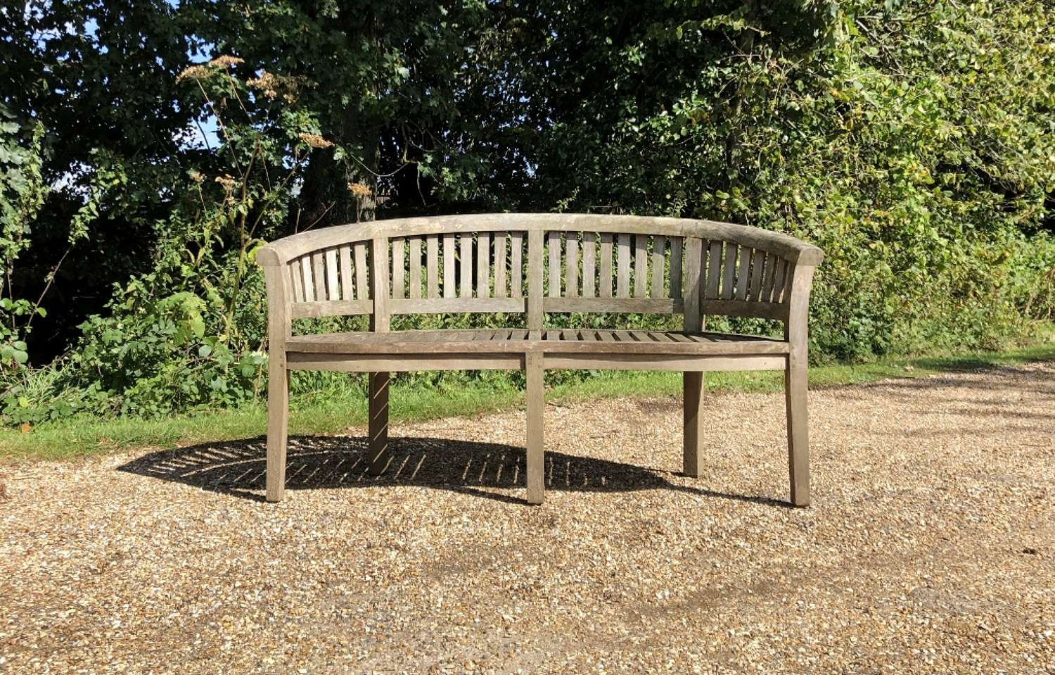 Weathered Curved Bench