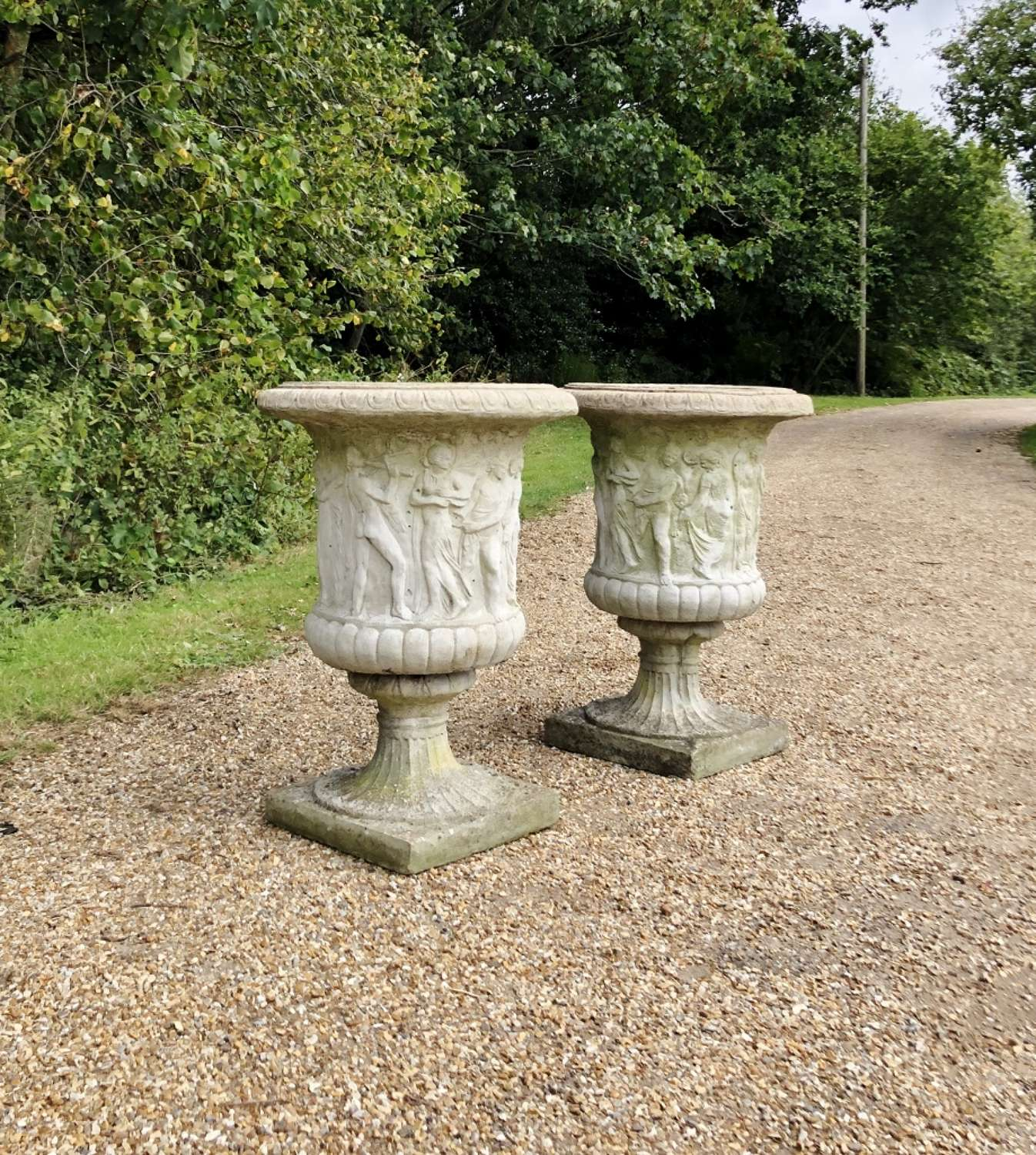 Pair of  Very Large Decorative Urns