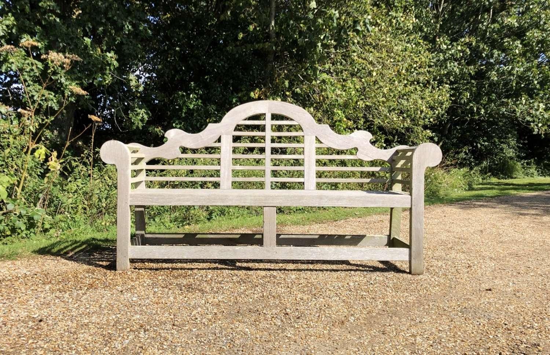 Long Silvered Lutyen Bench
