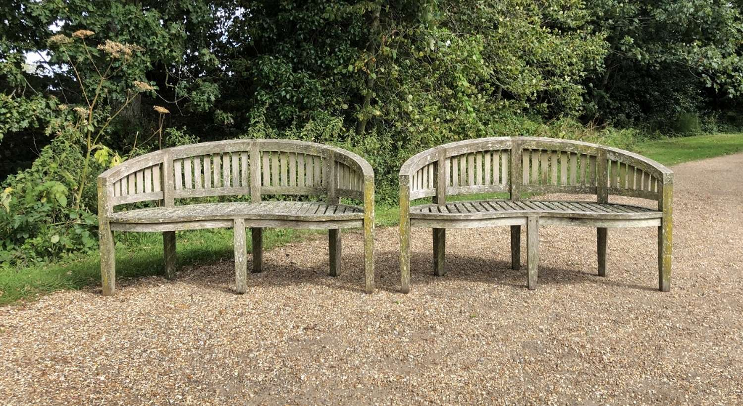 Patinated Curved Seats