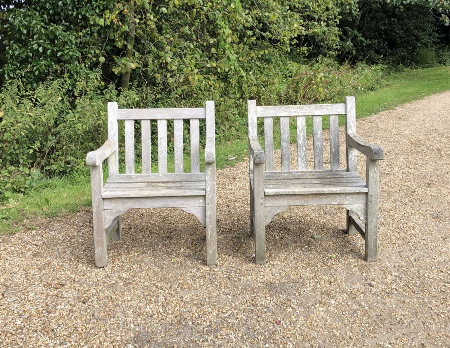 Pair of Traditional Garden Chairs