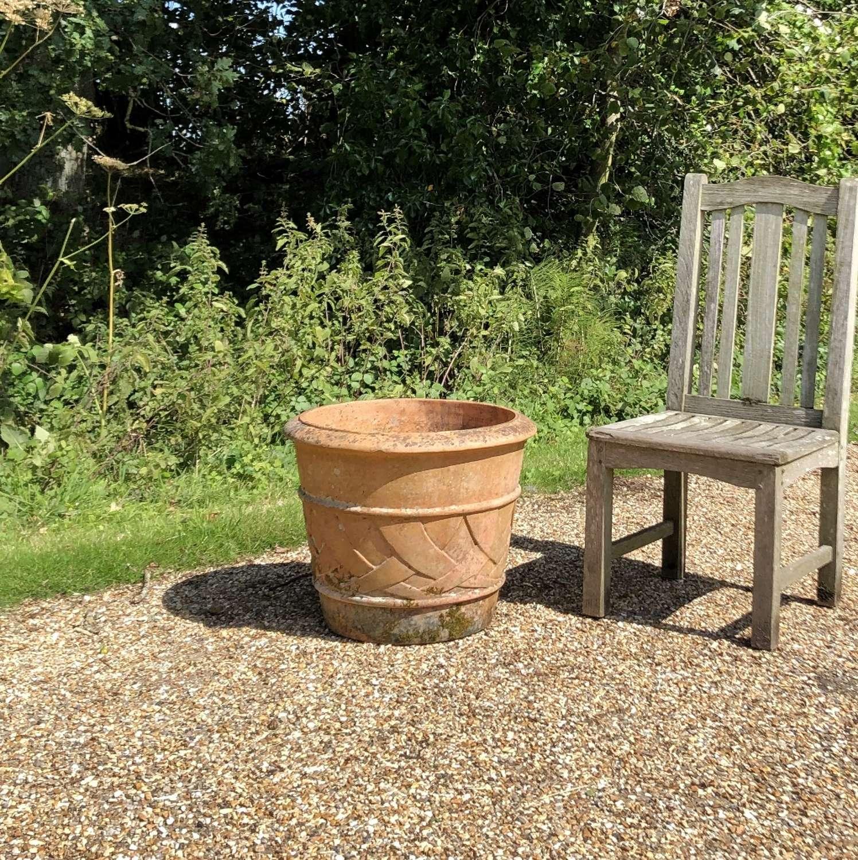 Terracotta Weave Planter