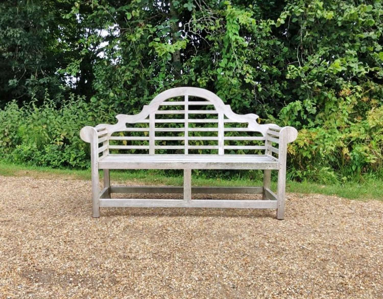 Silvered Lutyen Bench