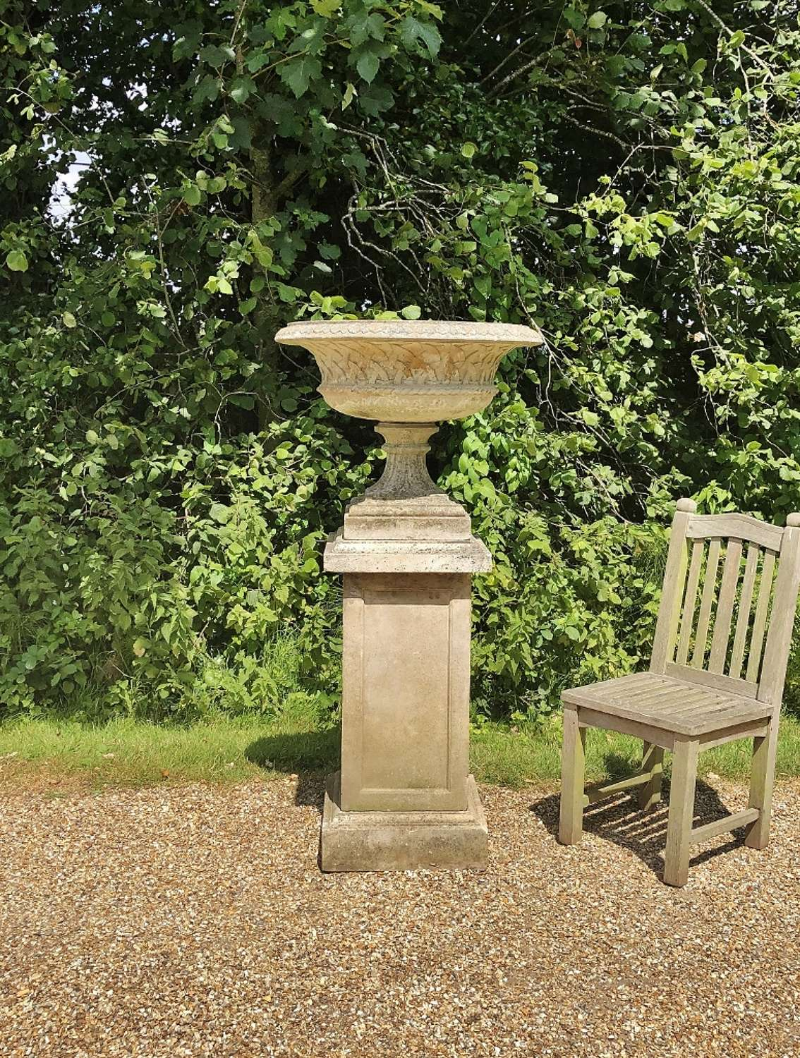 Large Tazza Urn and Pedestal