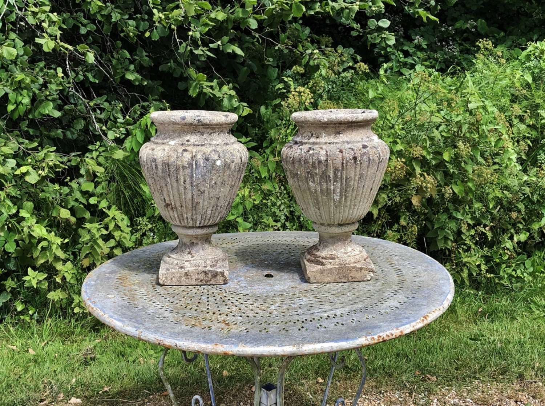 Pair of Weathered Vases