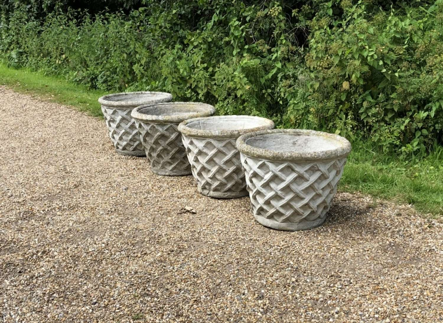 Lattice Weave Planters