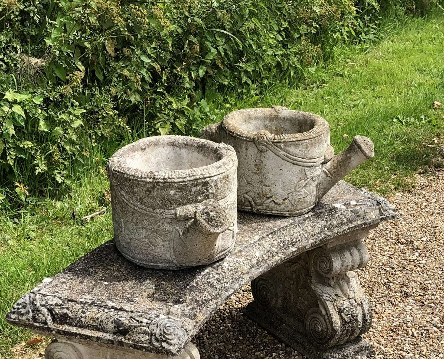 Pair of Watering Can Planters