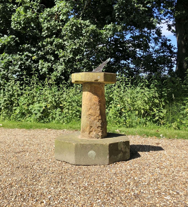 Large Antique Stone Sundial