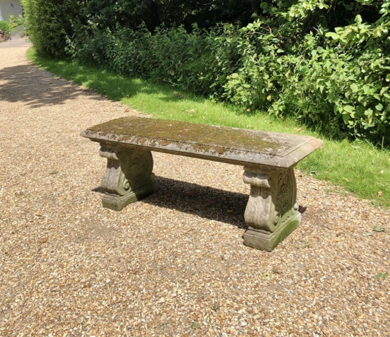 Mossy Stone Bench
