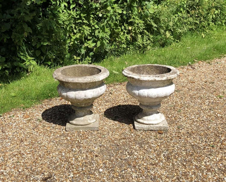 Pair of Vintage Urns