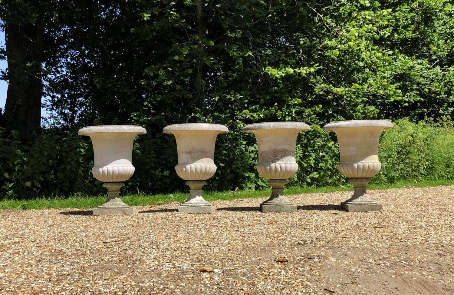 Set of 4 Campania Urns