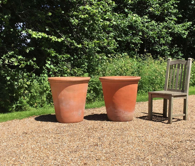 Large Long Tom Terracotta Planters