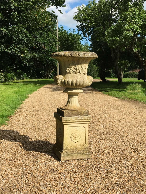 Vintage Urn with Pedestal