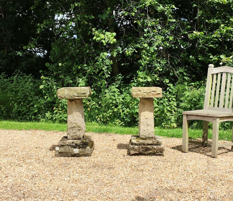 Carved Stone Bird Baths