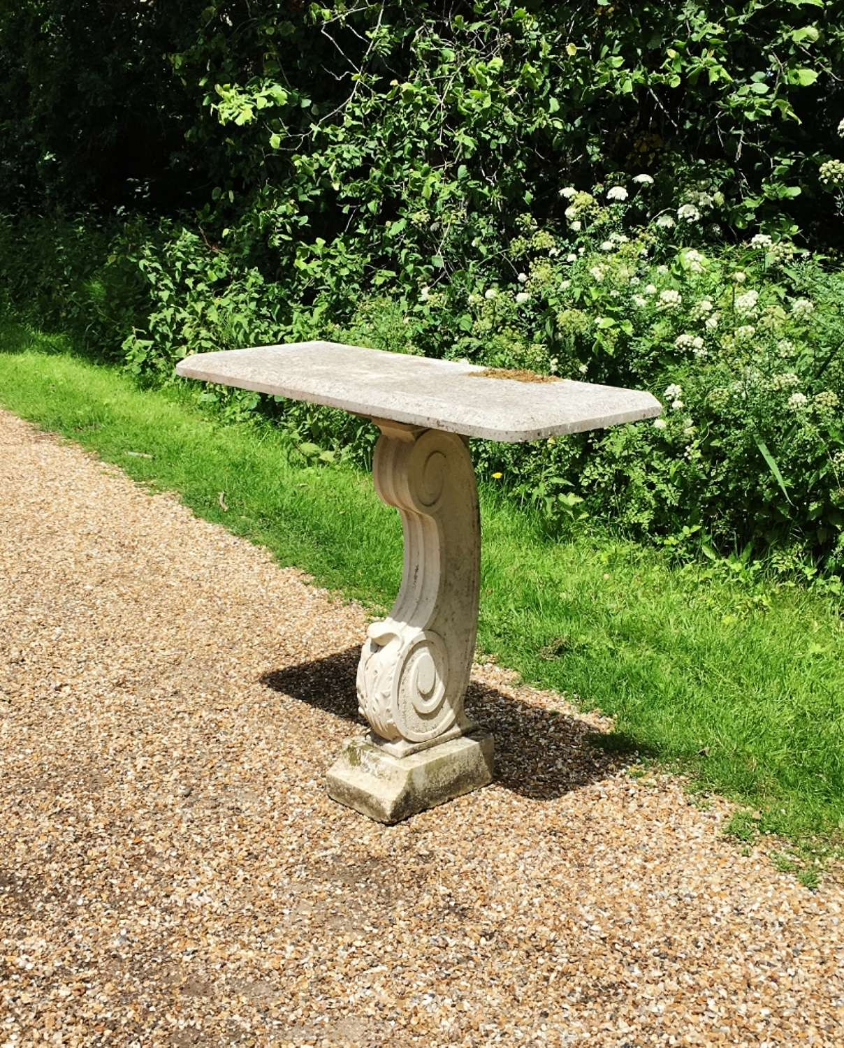Portland Stone and Marble Console Table