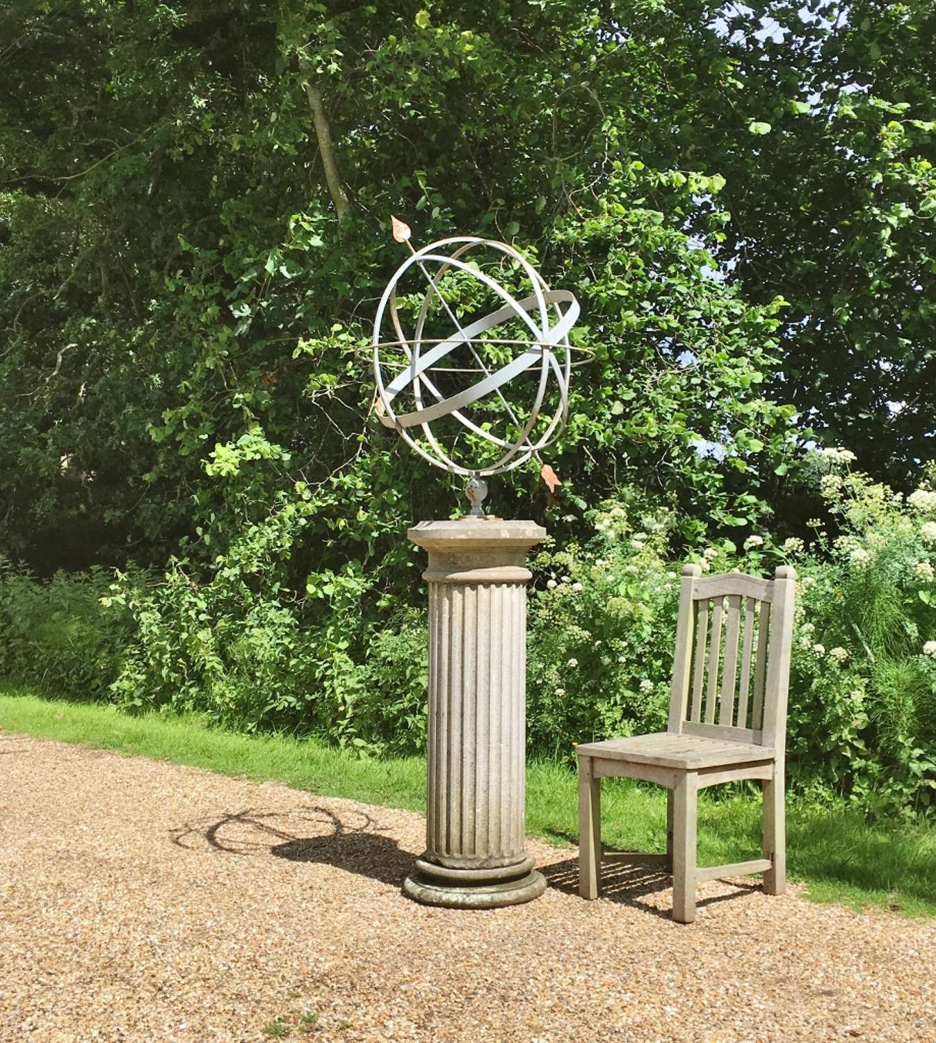 Large Armillary and Stone Column
