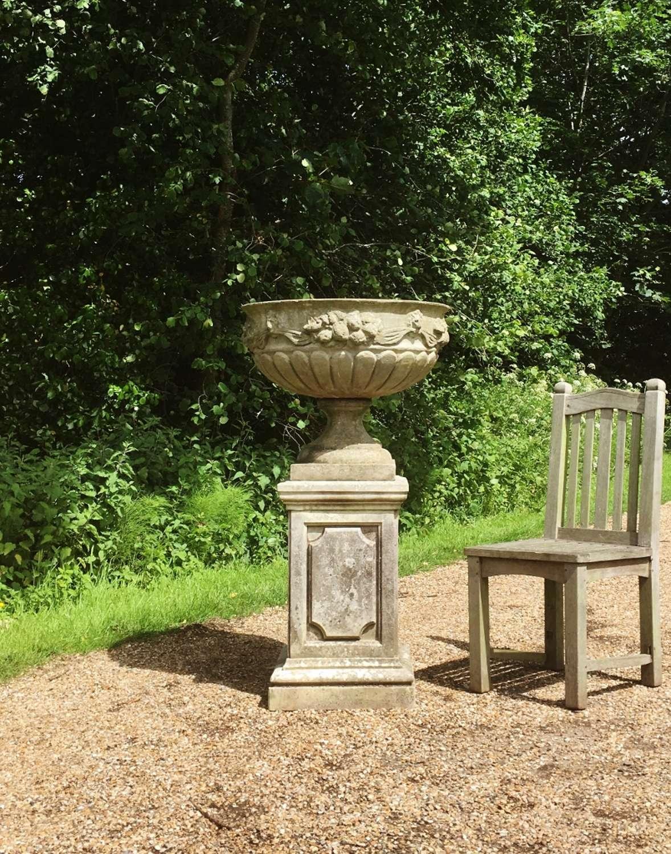 Large Bowl Urn and Pedestal