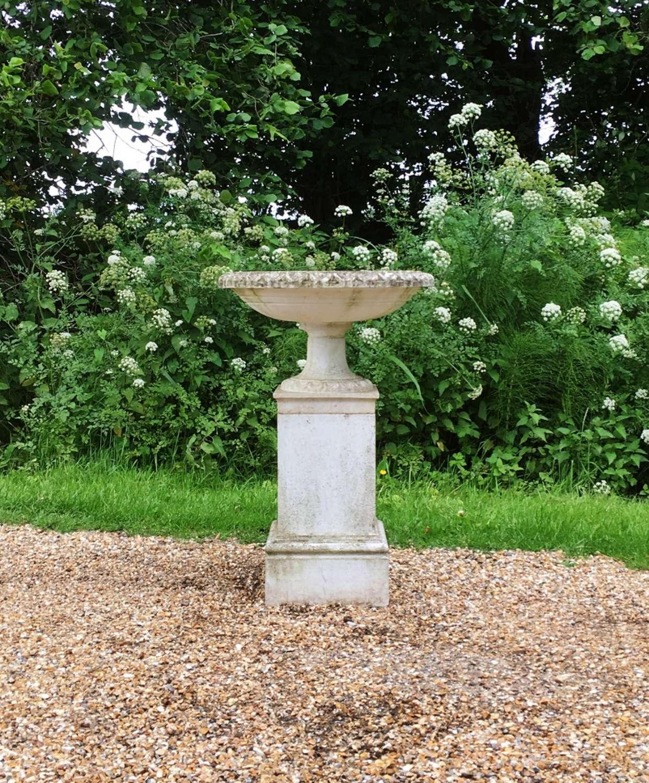 Bird Bath with Pedestal